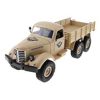 Kauko-ohjattava auto kuorma 6wd 1/16 rc sotilaallinen kiipeily kuorma-auto malli lelu