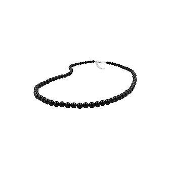 Necklace Beads 6mm Black 40cm 45162 45162 45162
