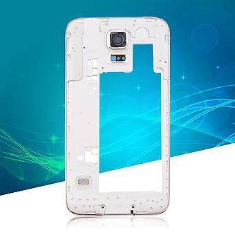 Dla Samsung Galaxy S5 I9600 G900h Tylna obudowa Środkowa ramka Obiektyw aparatu