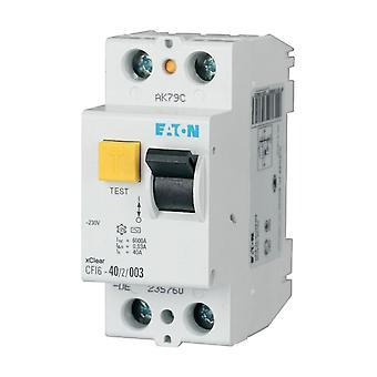 2-polakker 2-moduler resterende nuværende Circuit Breaker 25A 230VDC Eaton CFI6-25/2/03