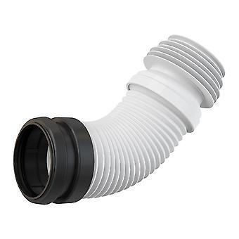 Universeel bereik Flexi kunststof flexibele WC Toilet Elbow afval Connector 90 / 110mm