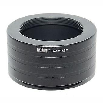 Kiwifotos objektív Mount Adapter: umožňuje M42 skrutka mount objektívy (Pentax, Praktica, Mamiya, ZEISS a Zenit), ktoré majú byť použité na každom Sony E-Mount fotoaparát telo-NEX-3, NEX-5, NEX-5N, NEX-7, NEX-C3