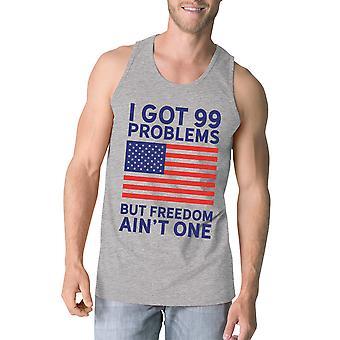 自由で独立記念日の 1 つメンズ グレーのノースリーブ シャツはないです。