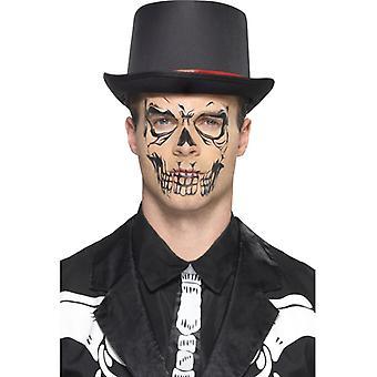 Tatuagem de caveira crânio conjunto crânio de Halloween 10 peças Tattooset Gesichtstattoo