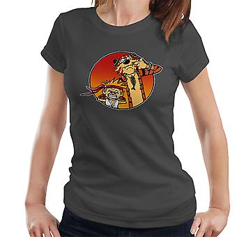 Street Pals Street Fighter Calvin And Hobbes Women's T-Shirt