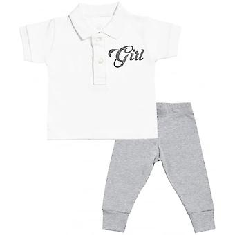 Spoilt Rotten Adorable Baby Polo T-Shirt & Baby Jersey Trousers Outfit Set