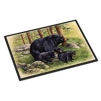 Black Bears by Daphne Baxter Indoor or Outdoor Mat 18x27