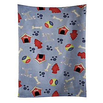 Dog House Collection Blue Chihuahua Kitchen Towel