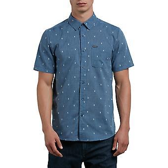 Volcom Gladstone overhemd met korte mouwen in Deep Blue