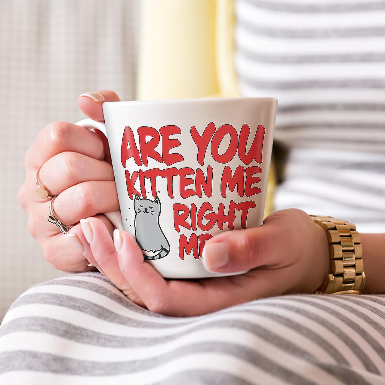 Sind Sie Kätzchen neue weißer Tee Kaffee Keramik Latte Becher 12 oz | Wellcoda