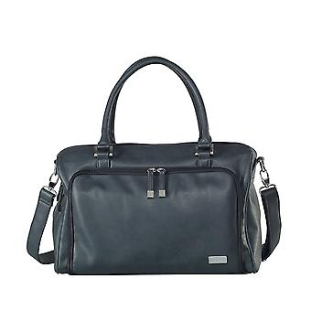 ISOKI Double Zip Satchel change bag - Balmain Charcoal