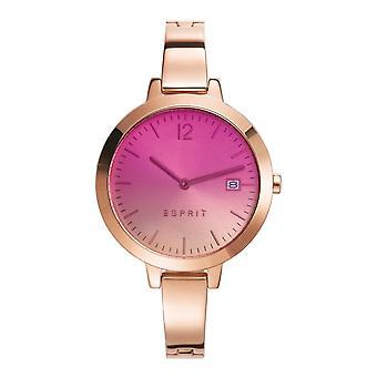 Esprit Damen Uhr Armbanduhr Amelia Edelstahl Rosé ES107242009