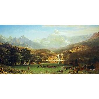 הדפס פוסטר שיא של הרי הרוקי על ידי אלברט בירשטדט (24 x 48)