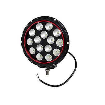 Anzo 861182 Off Road LED Leuchte 8 in USA. Runde klare Linse/schwarz-rote Lünette Gehäuse LED weiße Lichtfarbe Off-Road