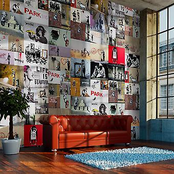Fotobehang - Banksy - a collage