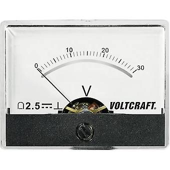 Analogue rack-mount meter VOLTCRAFT AM-60X46/30V/DC 30 V
