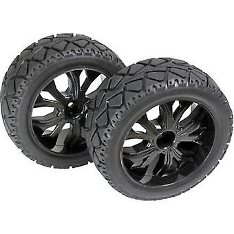 Absima 1:10 Buggy Complete wheels Tarmac forward 5-spoke Black 1 pc(s)