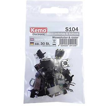 Kemo Microswitch set S104 momentary 30 Parts