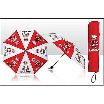 Union Jack Verschleiß halten Sie Ruhe ist es regnen Regenschirm