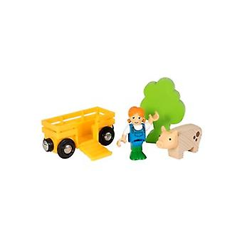 BRIO Farm Girl Play Kit 33875 houten Extra spoorwagon en Farm Girl