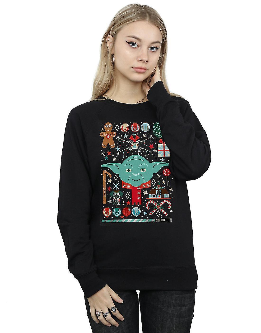 Star Wars Women's Yoda Christmas Sweatshirt