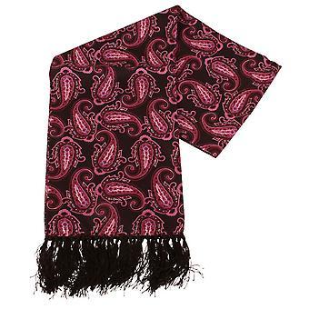 נייטסברידג ' בגדים ללבוש פייזלי הטייס צעיף משי-סגול