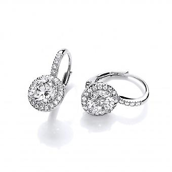 Cavendish French French Fancy Silver & Cubic Zirconia Earrings