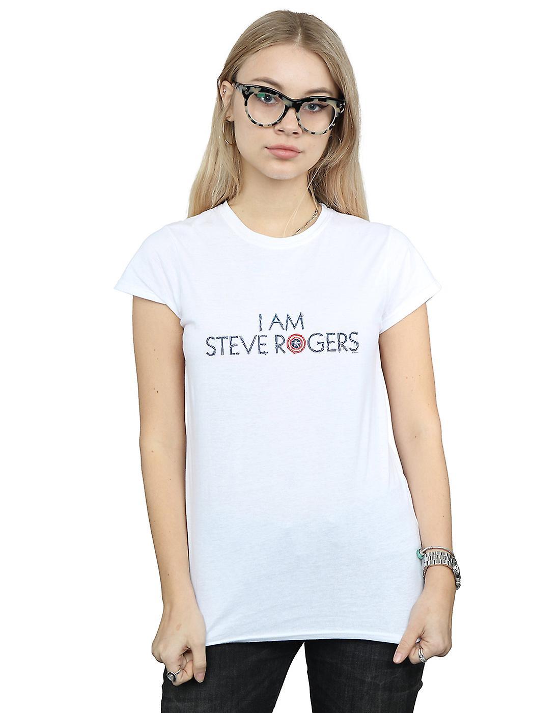 Marvel Women's Avengers Infinity War I Am Steve Rogers T-Shirt