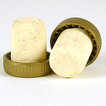 Plastic Topped Corks Gold Bag Of 100