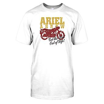 Ariel Arrow Get The Best Out of Life - Classic Bike Mens T Shirt