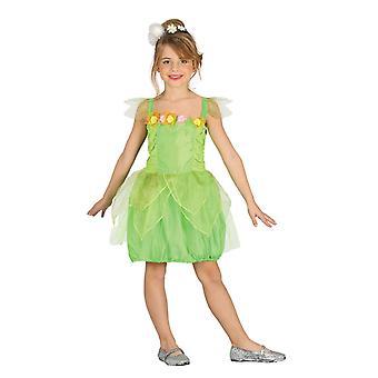 Tytöt vihreä keiju metsässä nymfi naamiaispuku puku
