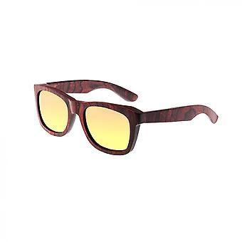 Earth Wood Panama Polarized Sunglasses - Rosewood Ebony/Brown