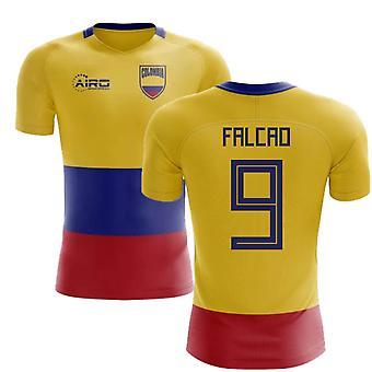 2020-2021 كولومبيا العلم مفهوم كرة القدم قميص (فالكاو 9)