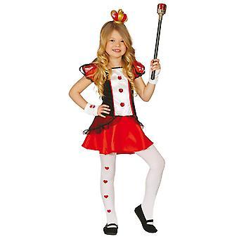 Mädchen-Königin der Herzen Märchen Kostüm