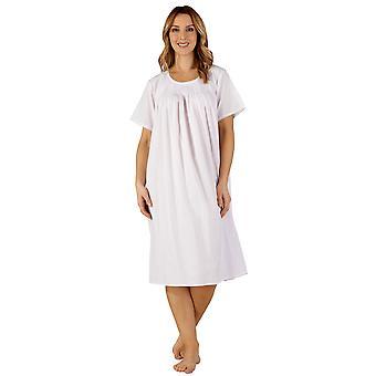 Slenderella ND3256 naisten puuvilla kudottu vaaleanpunainen yö puku oloasut yöpaita