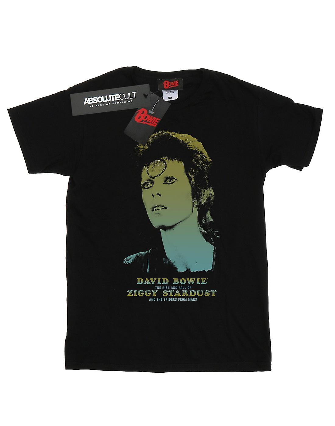 David Bowie Women's Ziggy Gradient Boyfriend Fit T-Shirt