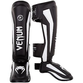 Venum Elite MMA Shinguards with Instep - Black/White