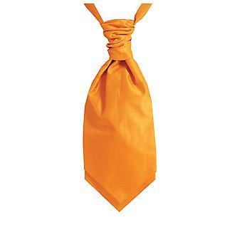 Dobell gutter oransje Cravat partiet bryllup Fancy kjole tilbehør Dupion