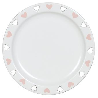Aroma Cut Out Heart Candle Plate, Pink