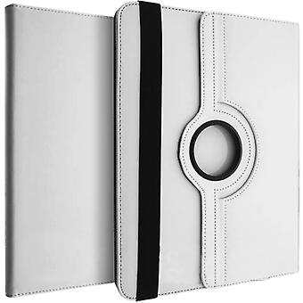 360° rotary standing case, shock absorbing cover for 10 Inch Tablets - White