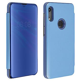 Flip Case, Mirror Case for Honor 8A / Huawei Y6 2019, Standing Cover - Blue