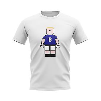 Paul Gascoigne Rangers Brick Footballer T-Shirt (White)