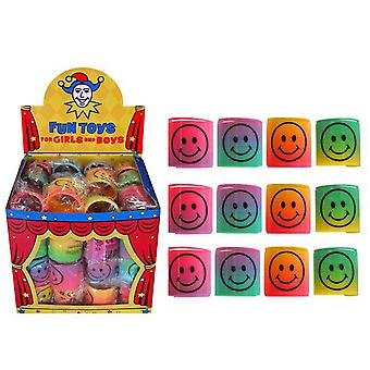 Henbrandt 3.5cm Smiley Face Rainbow Springs (Pack Of 60)
