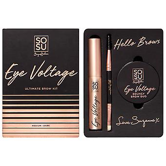 SOSUbySJ Eye Voltage Ultimate Brow Kit Medium - Dark
