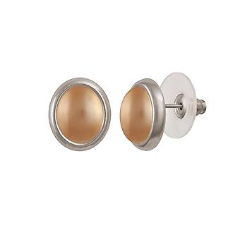 Eeuwige collectie Menuet gouden Shell parel zilver Toon Stud doorstoken oorbellen