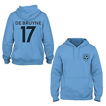 Kevin De Bruyne 17 Manchester City Style Player Kids Hoodie