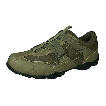 Skechers Marter Miesten rento tennarit koukku ja silmukka kengät-Stone Brown
