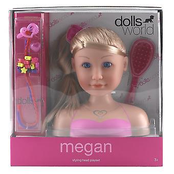 Cabeça de Styling bonecos mundo Megan
