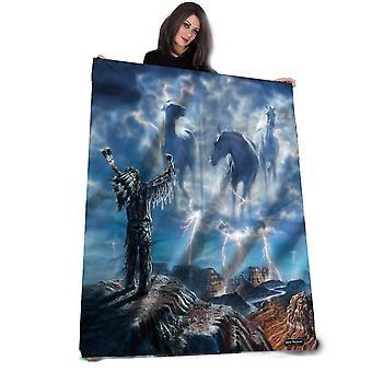 Summoning the storm - fleece blanket / tapestry / throw