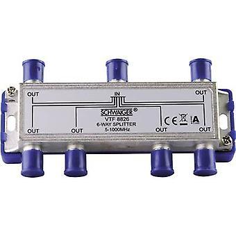 Schwaiger VTF8826 موزع تلفزيون الكابل 6-اتجاه 5 - 1000 ميغاهرتز